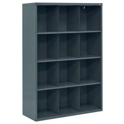 66 in. H x 46 in. W x 18 in. D Charcoal 12-Cube Cubby Organizer