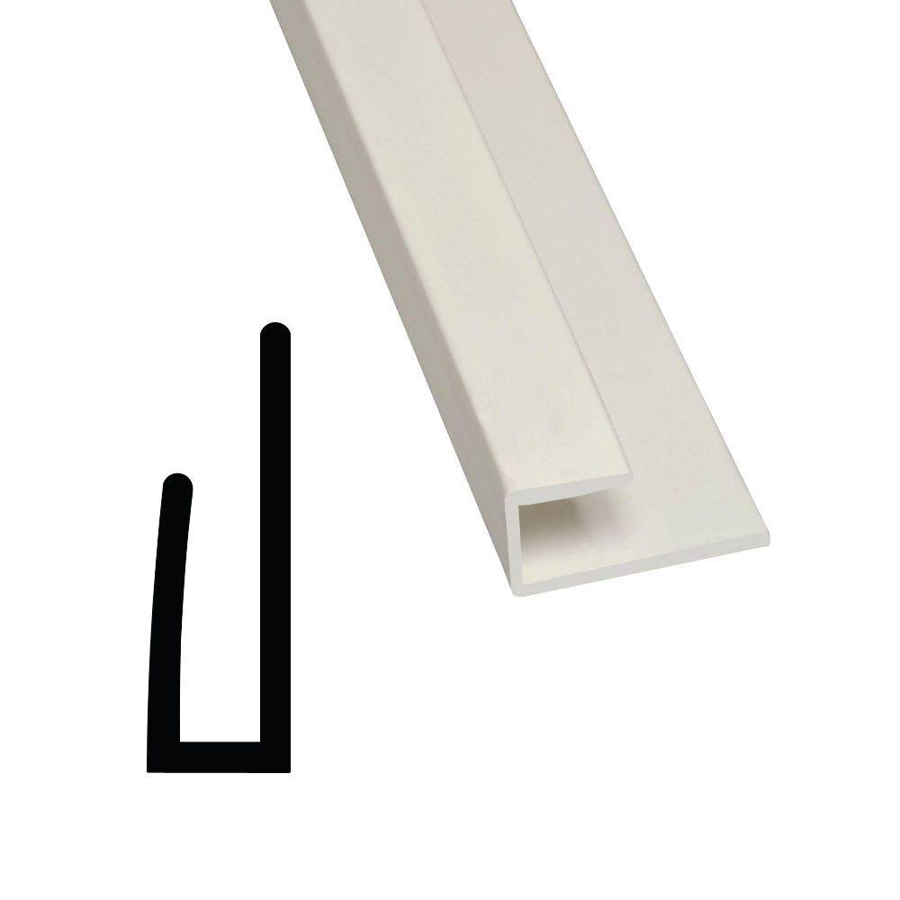 867 1/4 in. x 3/4 in. x 96 in. PVC Composite White FRP Cap Moulding