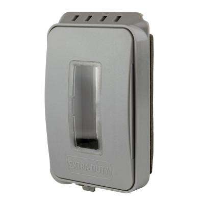 Gray 1-Gang Extra Duty Non-Metallic Low Profile While-In-Use Weatherproof Horizontal/Vertical Receptacle Cover