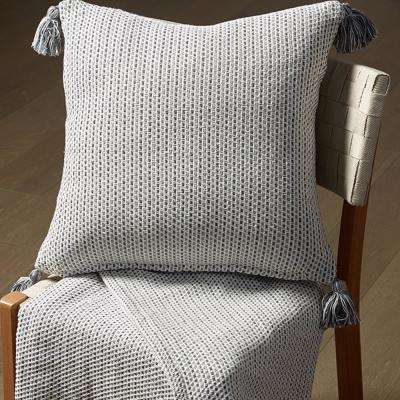 LR07308 Gray 18 in. x 18 in. Decorative Pillow