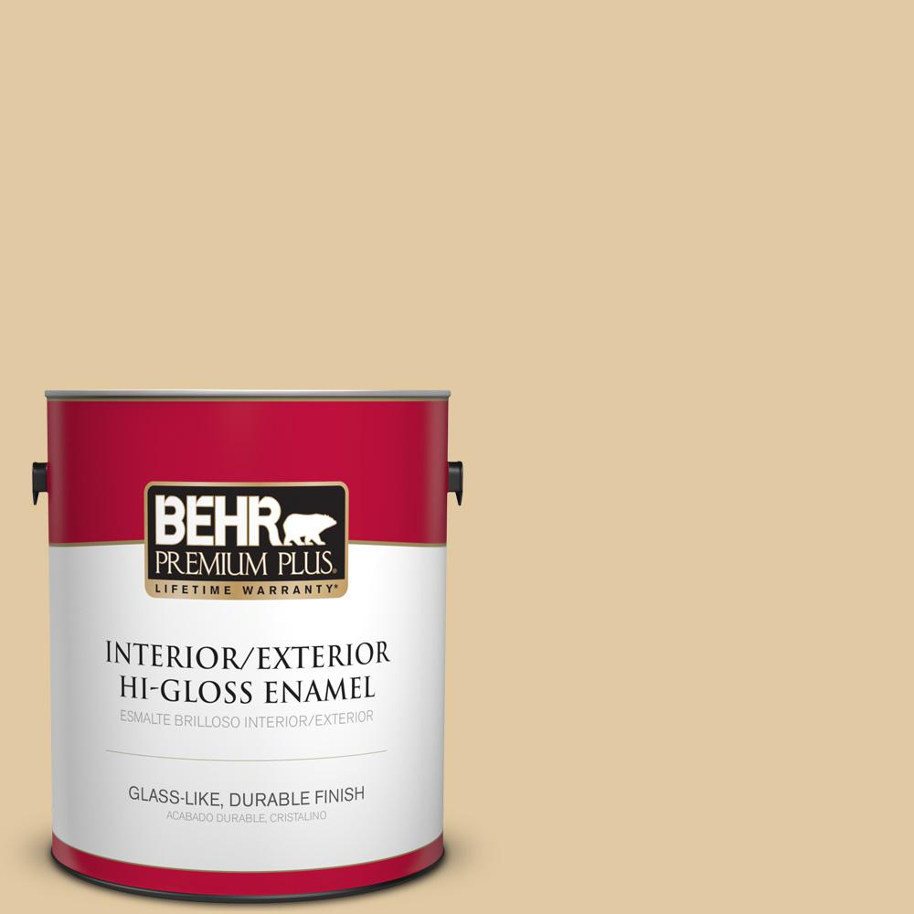 1 gal. #PPU7-19 Crepe Hi-Gloss Enamel Interior/Exterior Paint
