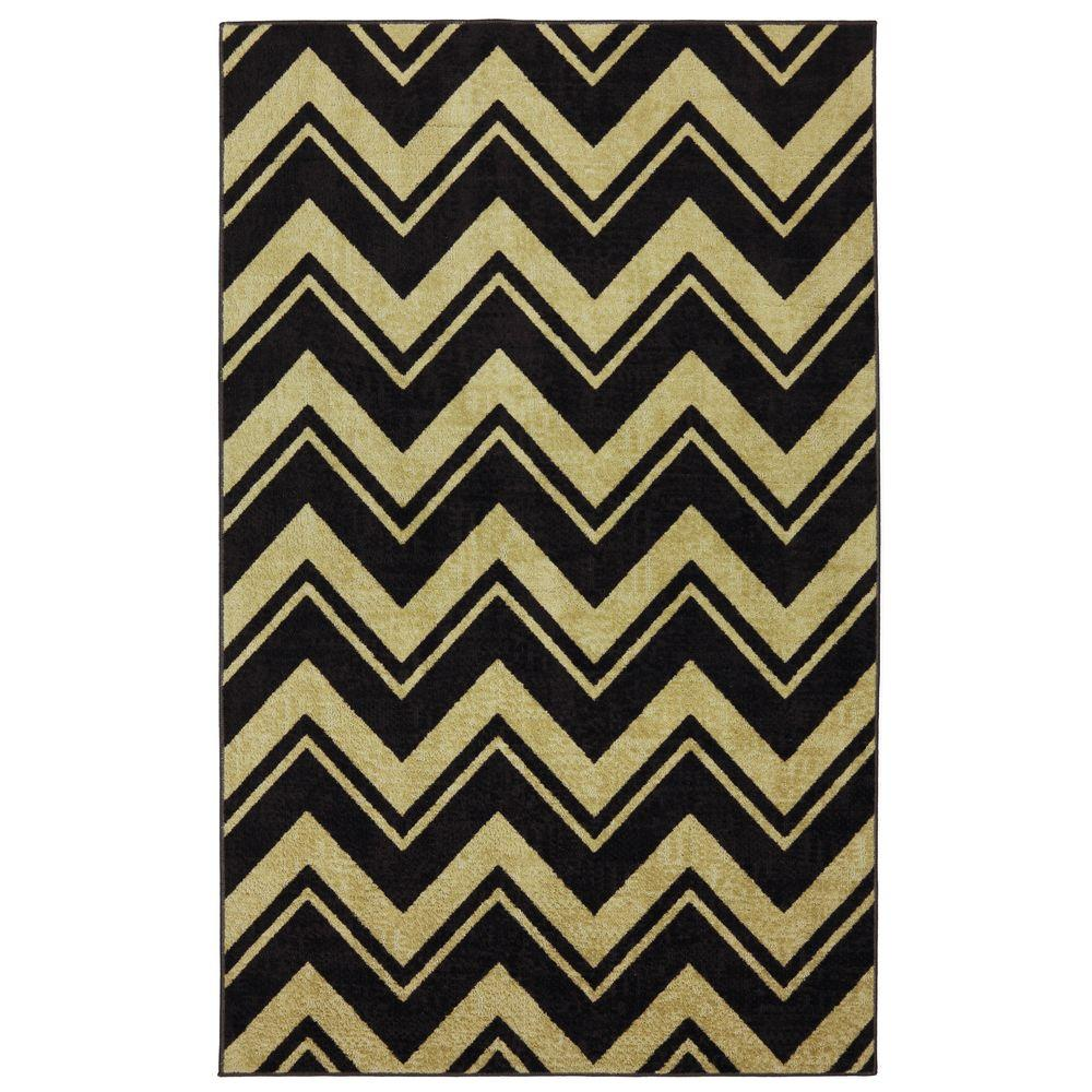 Mohawk Home Lascala Chevron Stripe Neutral 5 ft. x 8 ft. Area Rug
