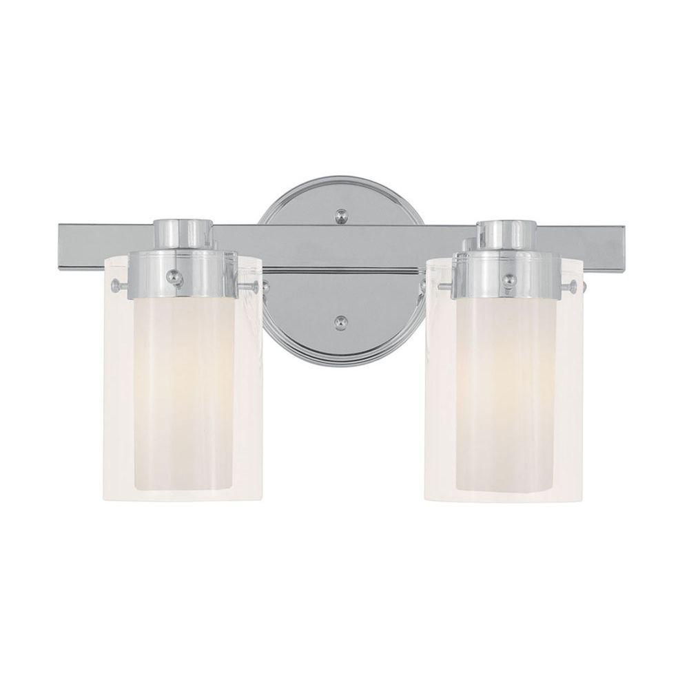 Providence 2-Light Chrome Incandescent Bath Vanity Light