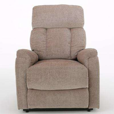 Ivy Two-Tone Wheat Fabric Lift Up Recliner