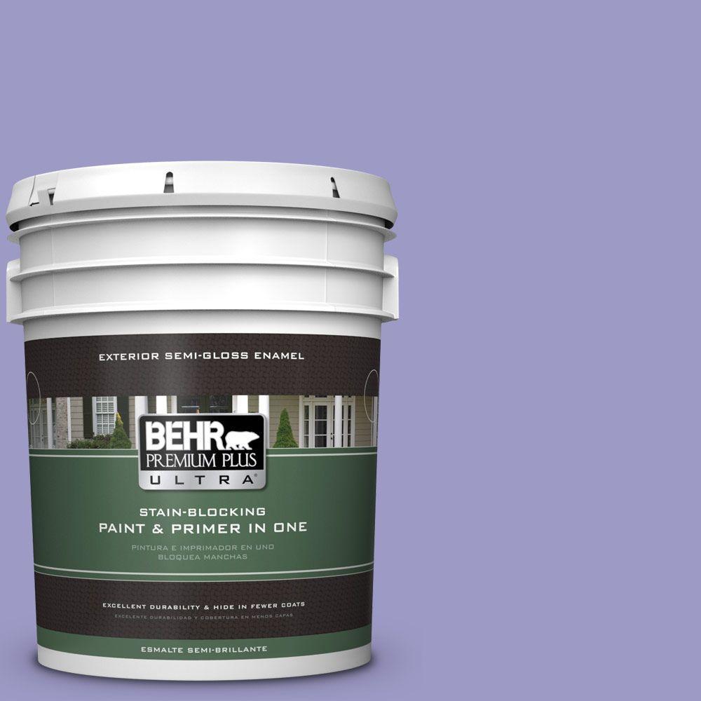 BEHR Premium Plus Ultra 5-gal. #630B-5 Majestic Violet Semi-Gloss Enamel Exterior Paint