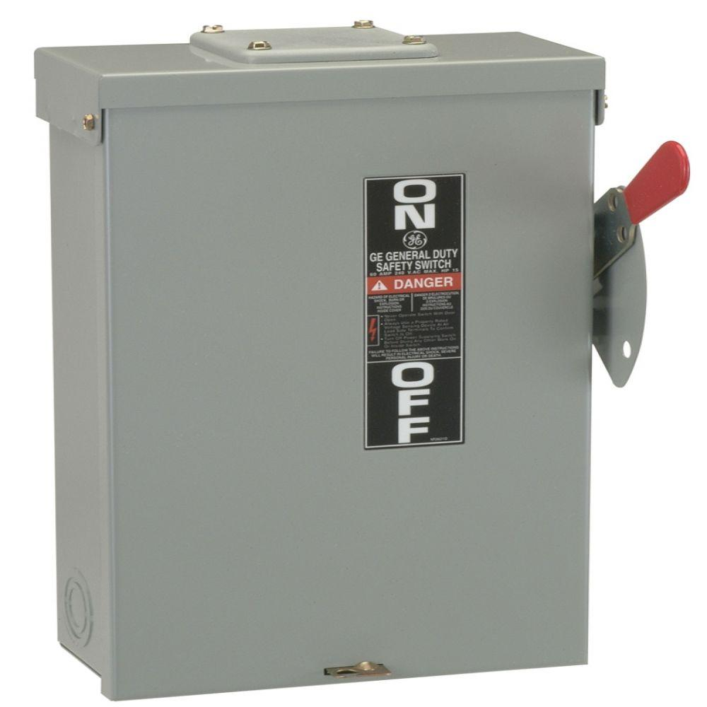 100 Amp Disconnect >> Ge 100 Amp 240 Volt Fusible Outdoor General Duty Safety Switch