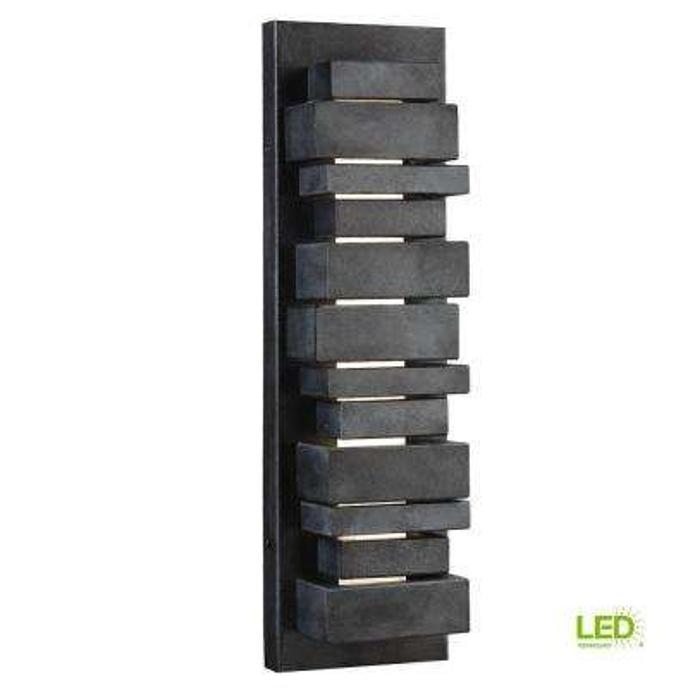 Ledgend Dark Weathered Zinc LED Wall/Ceiling Fixture