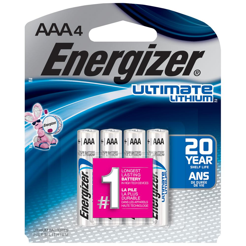 Energizer Ultimate Lithium AAA Battery (4-Pack)-L92SBP-4 - The Home