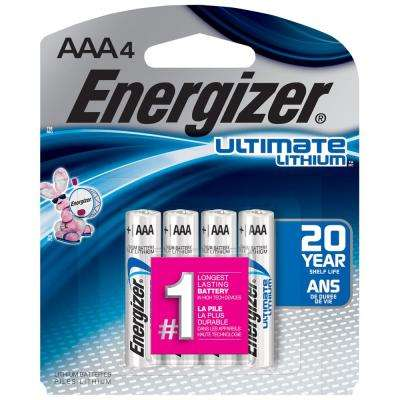 Ultimate Lithium AAA Battery (4-Pack)
