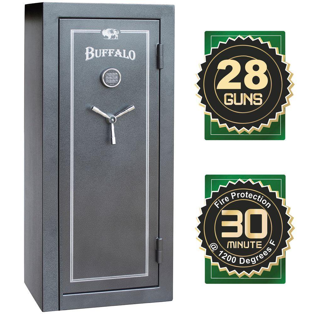BUFFALO 28-Gun 12 cu  ft  Electric Lock Fire-Resistant Combination Gun Safe