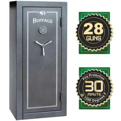 28-Gun 12 cu. ft. Electric Lock Fire-Resistant Combination Gun Safe
