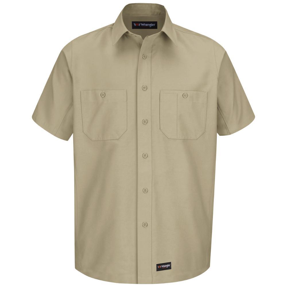 Men's 2X-Large Khaki Work Shirt