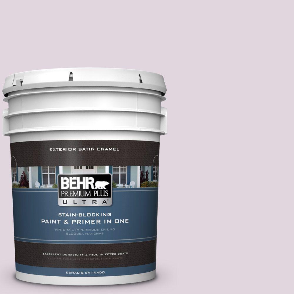 BEHR Premium Plus Ultra 5-gal. #S110-1 Secret Scent Satin Enamel Exterior Paint