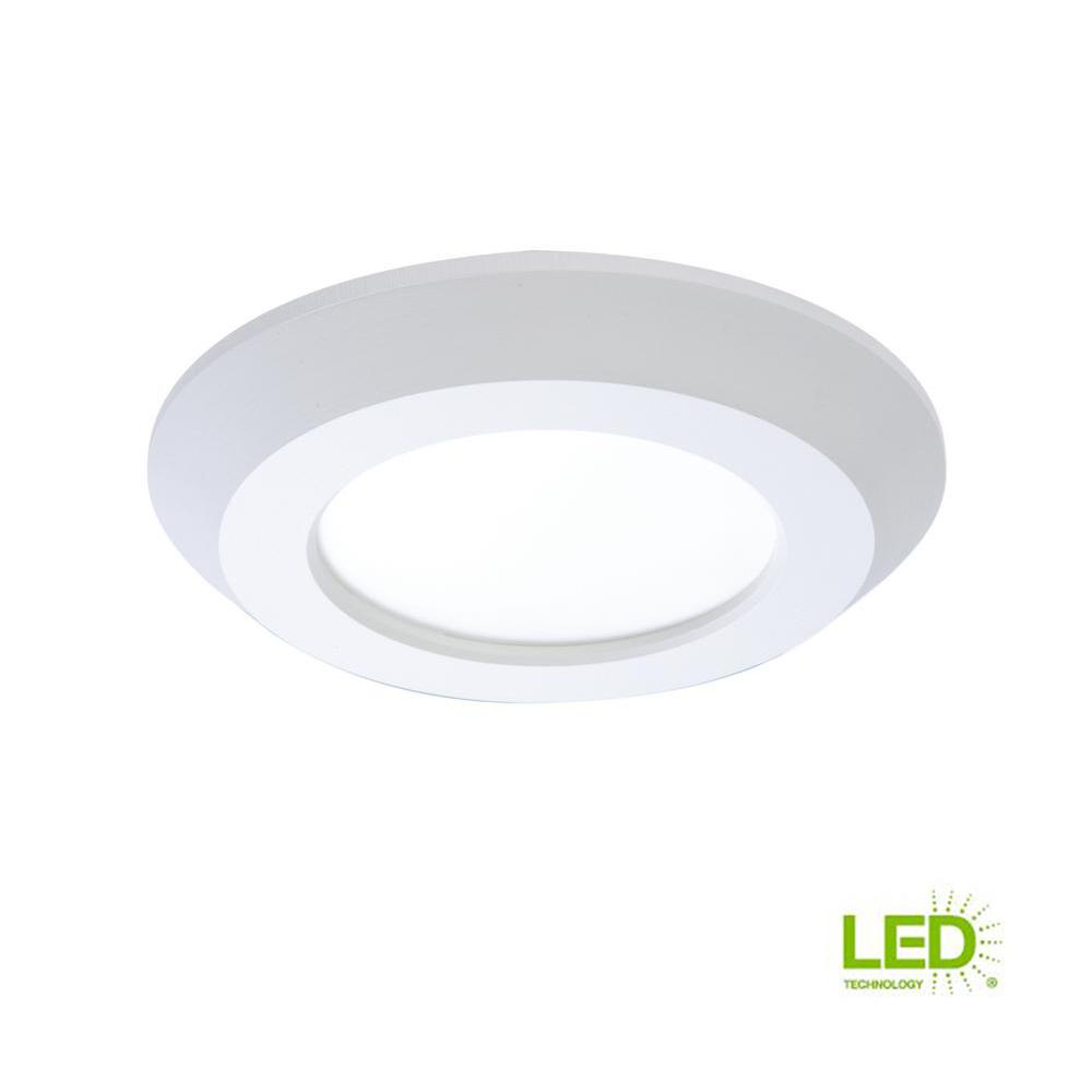 ceddb17be94 White Integrated LED Recessed Retrofit Ceiling Mount Light Fixture with 90  CRI