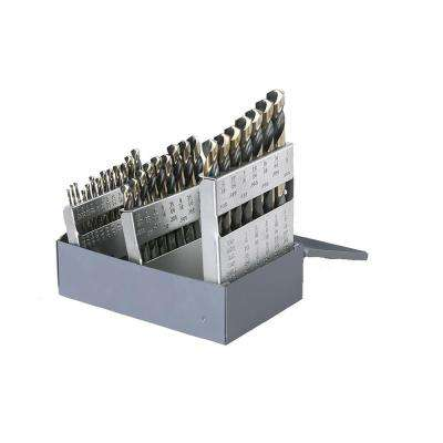 1878 High Speed Steel Black and Gold Heavy-Duty 1/16 in. - 1/2 in. x 64 Bit Set (29-Piece)