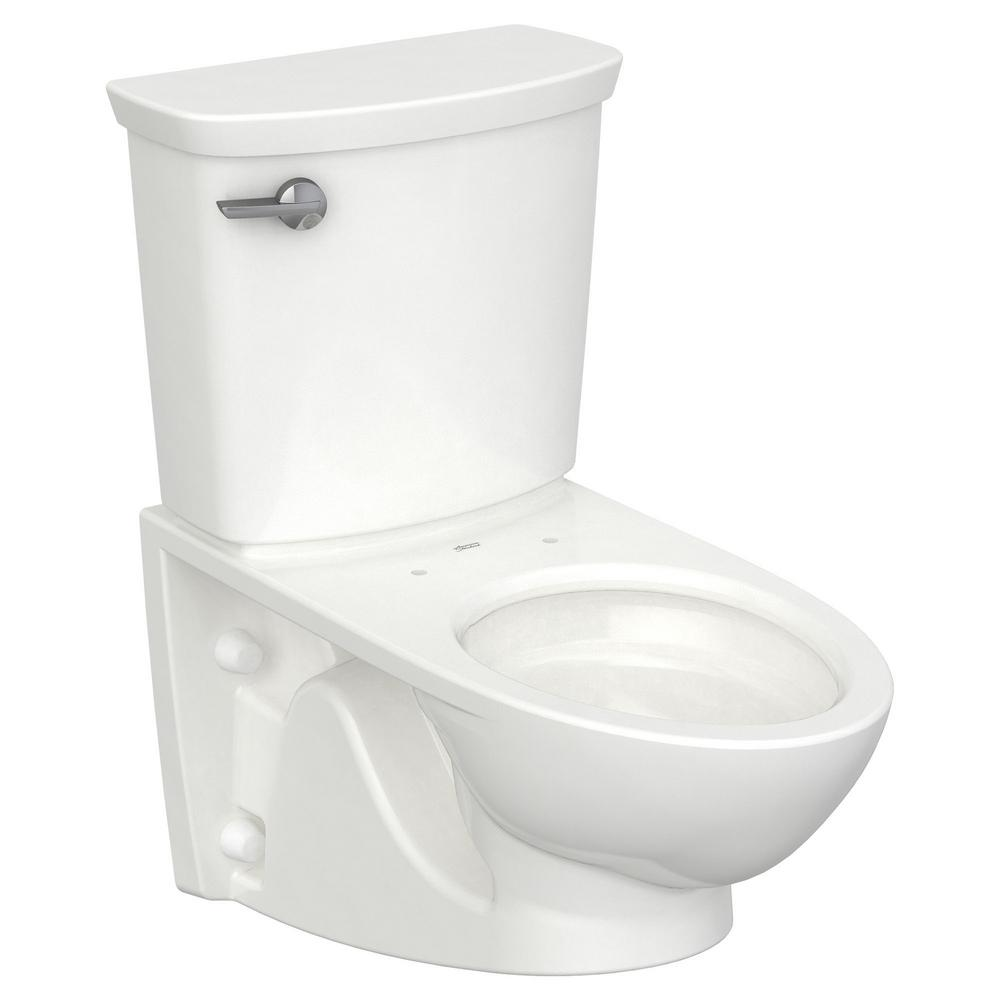 American Standard Glenwall Vormax 1 28 Gpf Single Flush Toilet With Left Hand Trip Lever In White Seat Not Included 2882107 020 The Home Depot