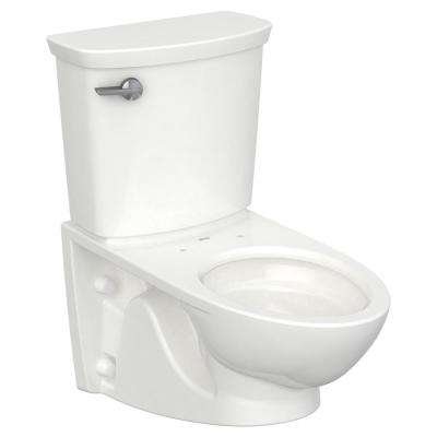 Glenwall VorMax 1.28 GPF Single Flush Toilet with Left Hand Trip Lever in White (Seat Not Included)