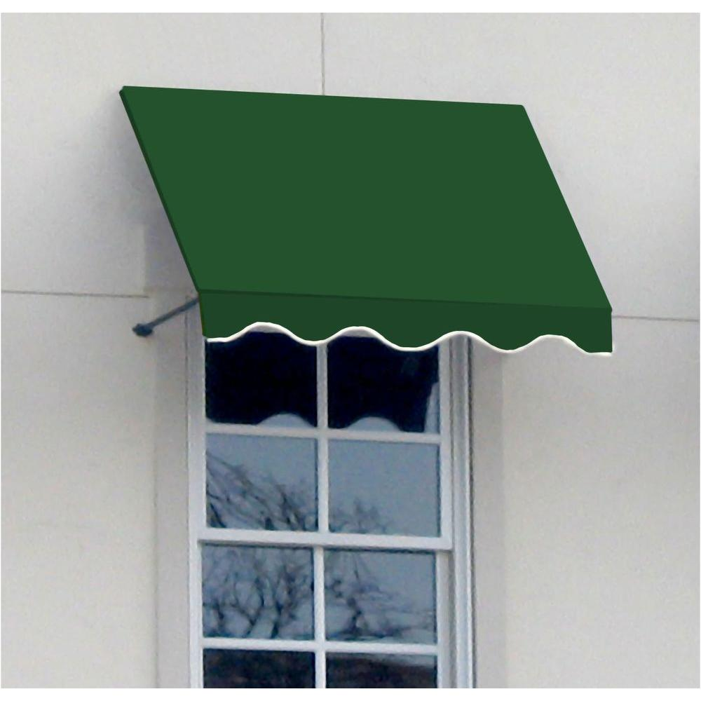 AWNTECH 4 ft. Dallas Retro Window/Entry Awning (44 in. H x 24 in. D) in Forest