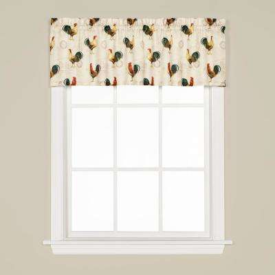 Tuscan Morning 13 in. L Polyester Valance in Multi