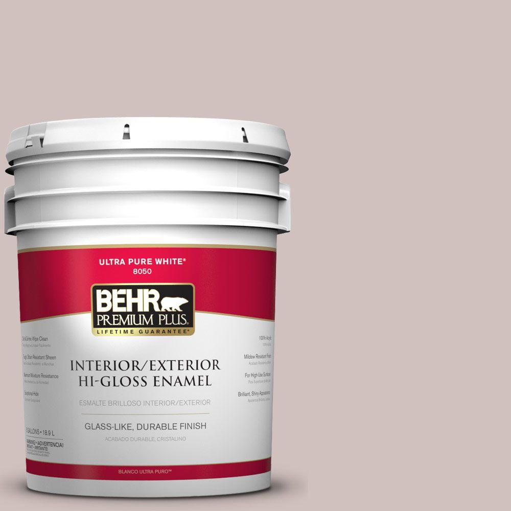 BEHR Premium Plus 5-gal. #N130-2 Ash Rose Hi-Gloss Enamel Interior/Exterior Paint