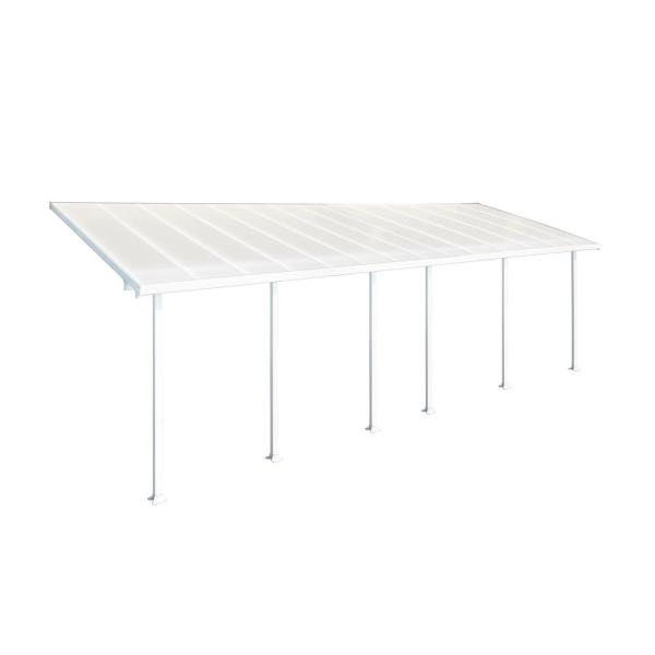 Feria 10 ft. x 28 ft. White Patio Cover Awning