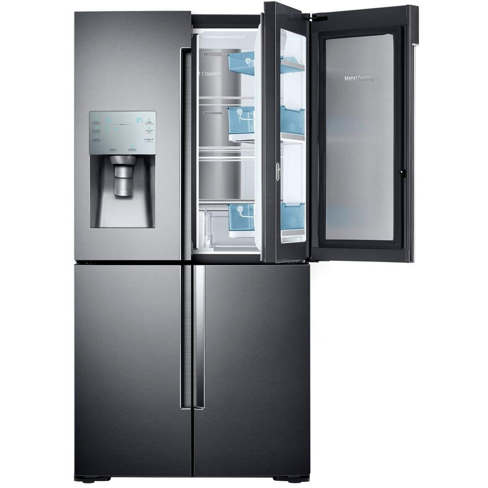 Samsung 28 cu ft 4 door flex french door refrigerator in black samsung 28 cu ft 4 door flex french door refrigerator in black stainless steel rf28k9380sg the home depot rubansaba