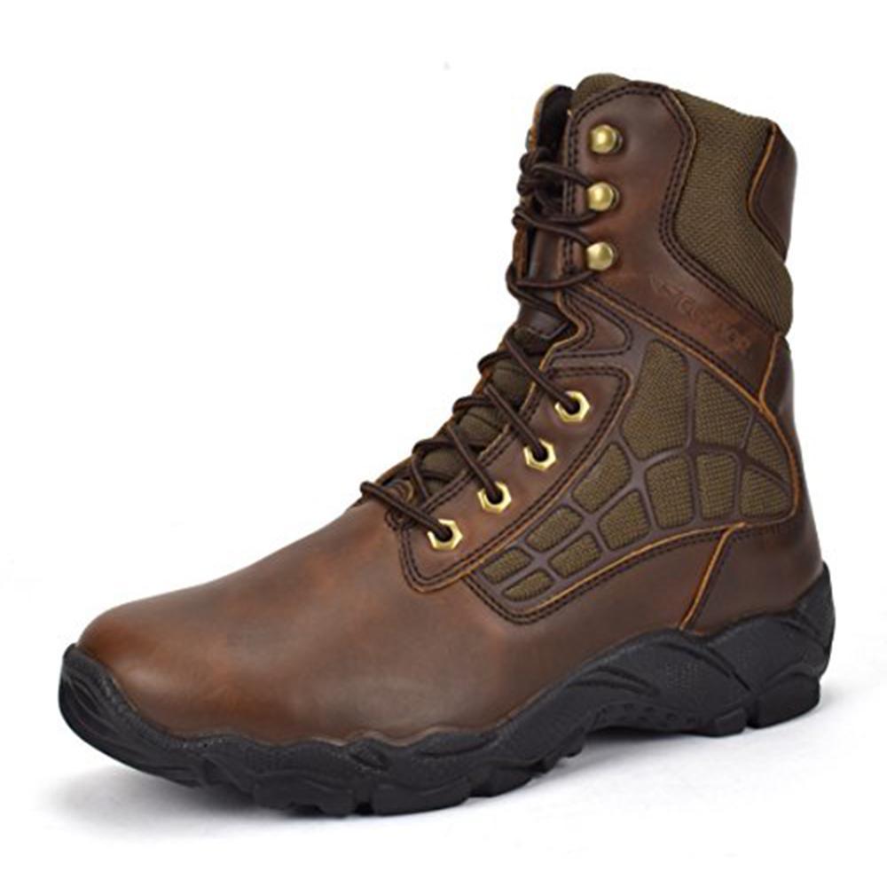 Men's 8 in. Brown 13 E (US) Steel Toe Work Boot