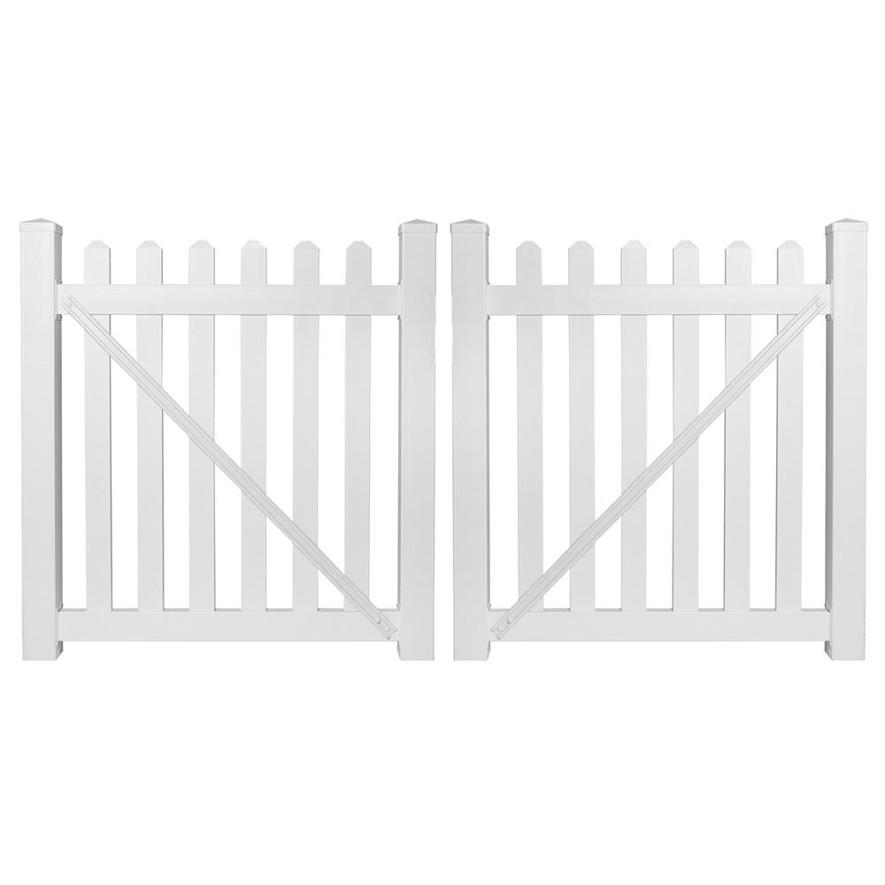 Chelsea 8 ft. W x 4 ft. H White Vinyl Picket