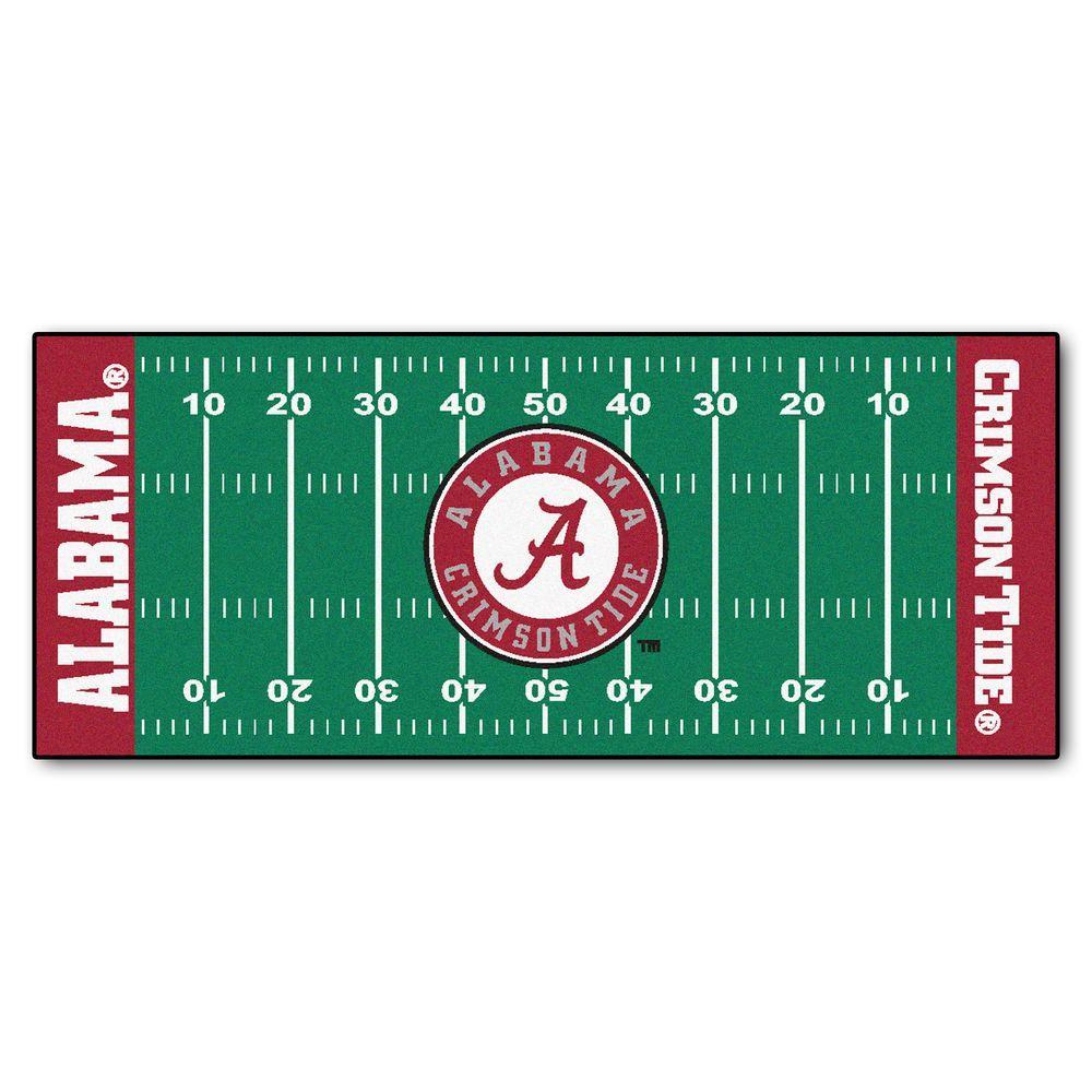 University of Alabama 3 ft. x 6 ft. Football Field Rug Runner Rug