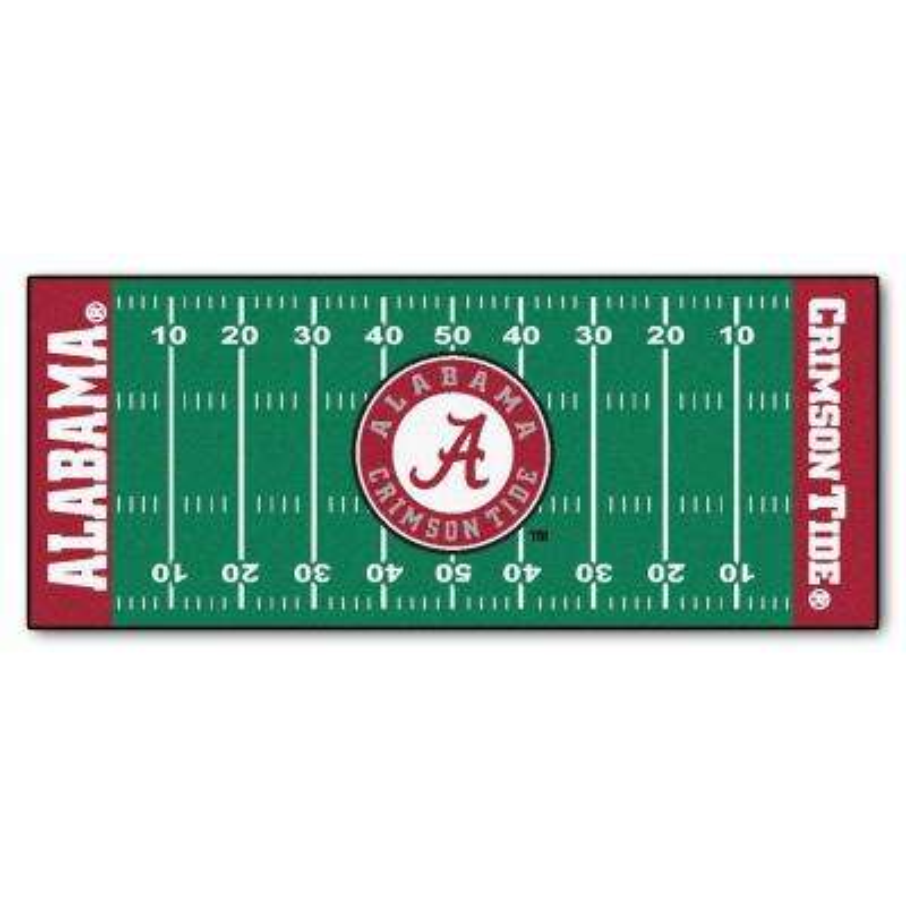 University of Alabama 2 ft. 6 in. x 6 ft. Football Field Rug Runner Rug
