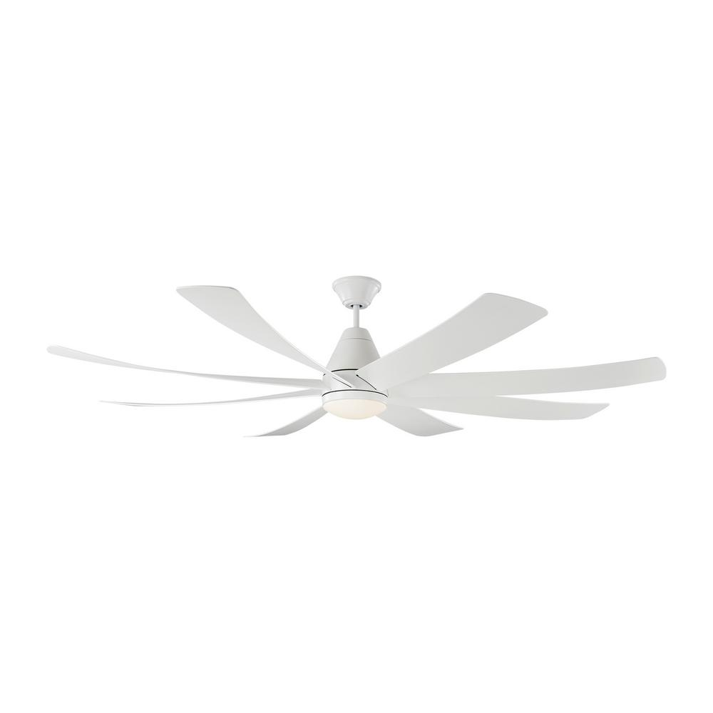 Monte Carlo Kingston 72 in. Integrated LED Matte White Ceiling Fan with Light Kit and Remote was $999.0 now $629.97 (37.0% off)