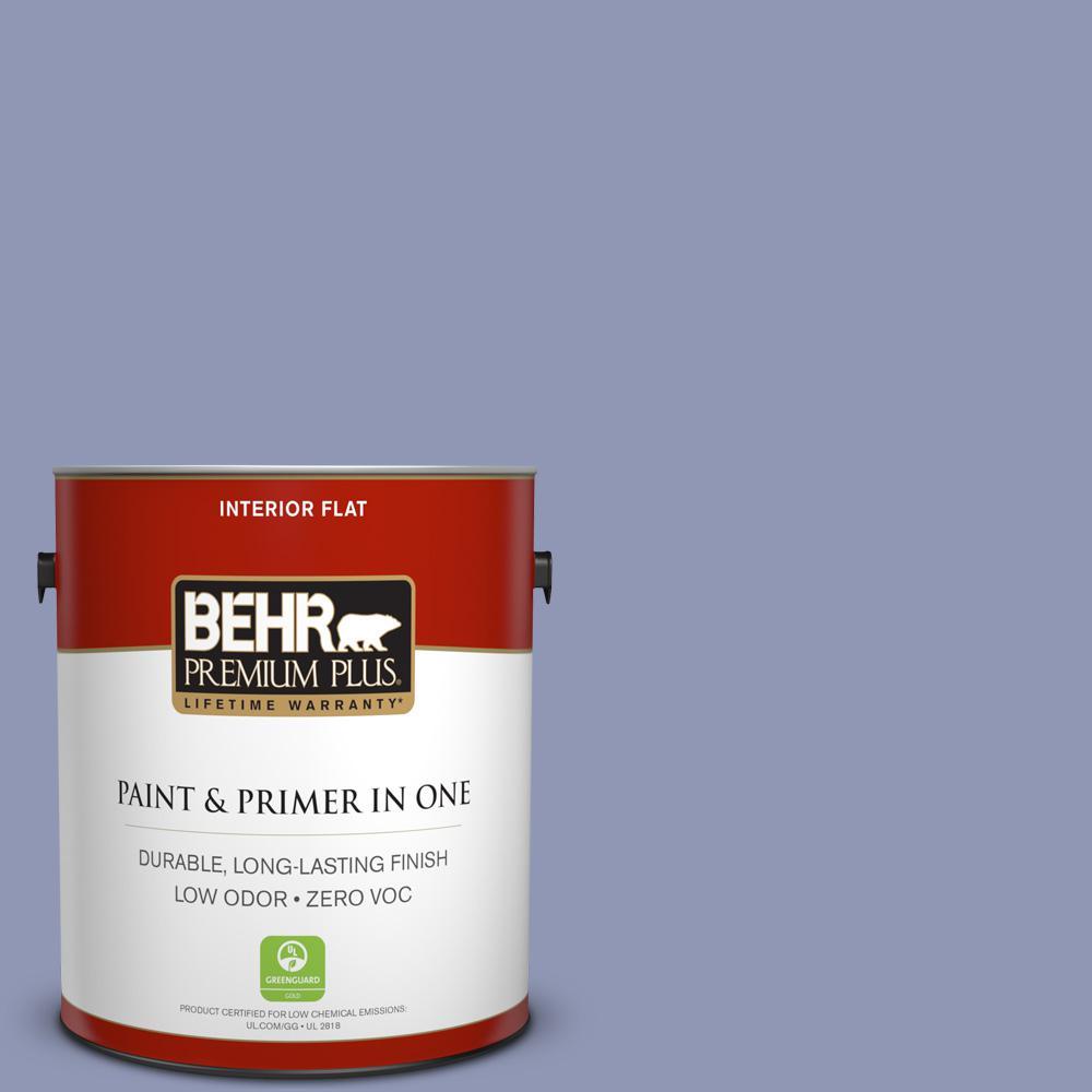 BEHR Premium Plus 1 gal. #S540-4 Vintage Ribbon Flat Zero VOC Interior Paint and Primer in One