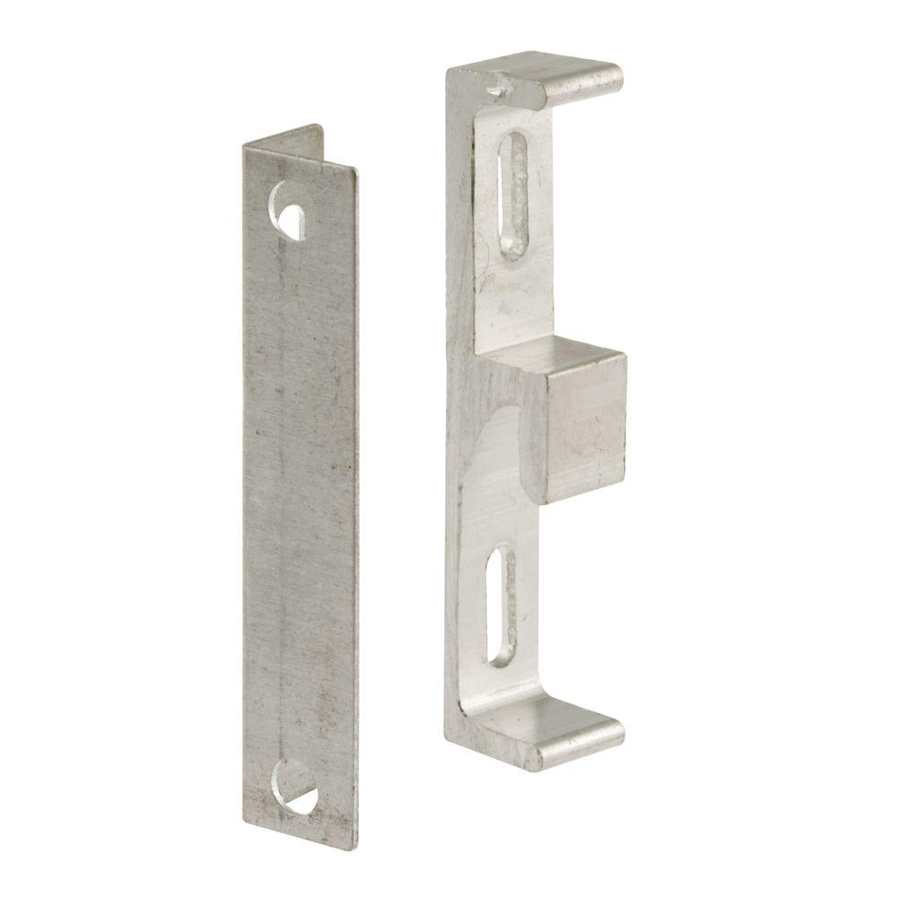 Prime-Line Aluminum Sliding Door Keeper with Bracket