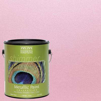 1 gal. Pink Pearl Water-Based Satin Metallic Interior/Exterior Paint