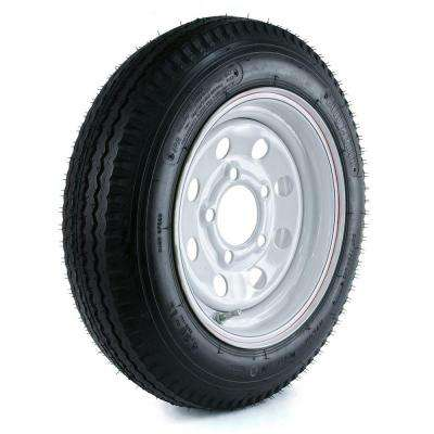 480-12 Load Range B 5-Hole Mod Trailer Tire and Wheel Assembly