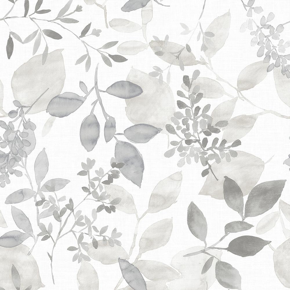 30.75 sq. ft. Grey Breezy Peel and Stick Wallpaper