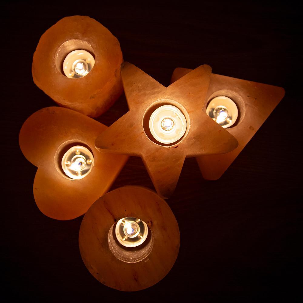 Himalayan Salt Tea Light Cylinder Shape Candle Holder - Pack Of 2