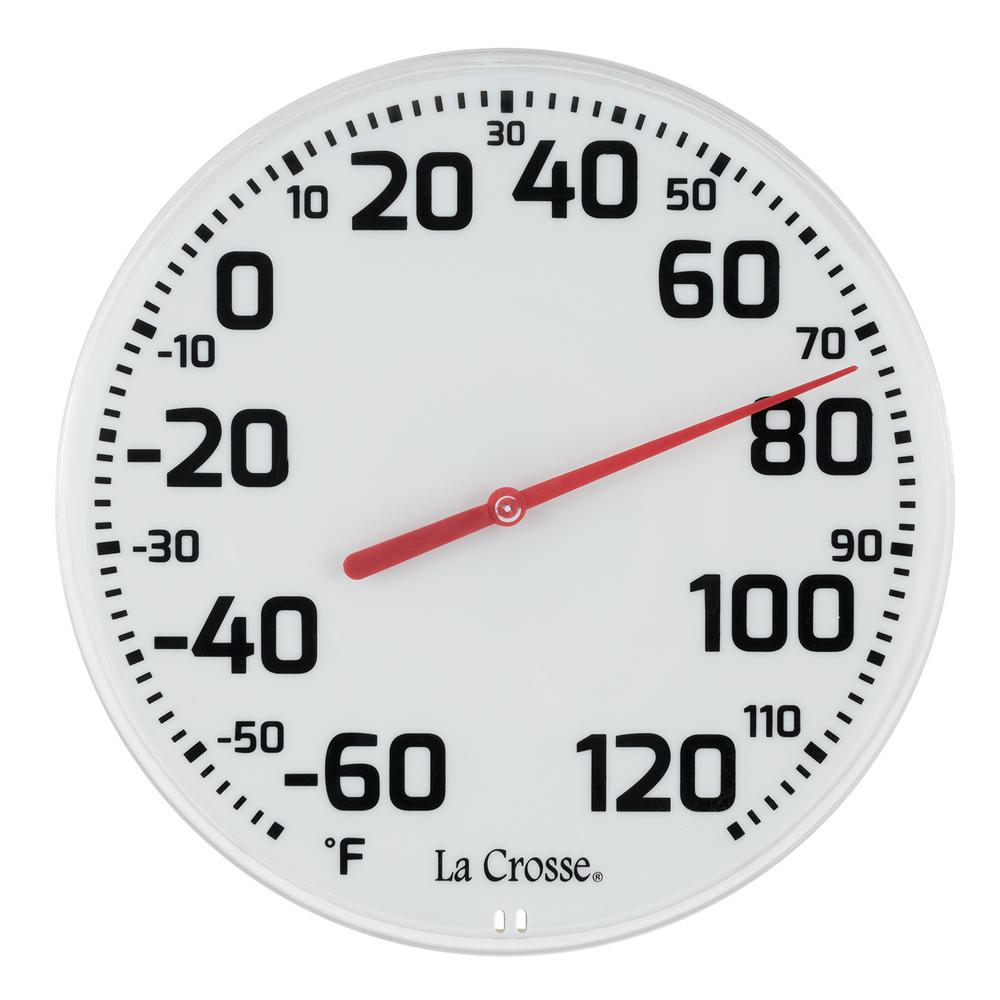 la crosse technology 8 5 in round dial thermometer 104 1522 the
