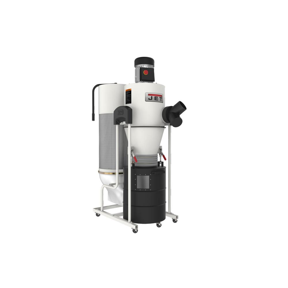 jet jcdc 1 5 1 5hp 115 volt cyclone dust collector 717515 the home