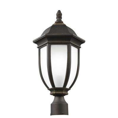 Galvyn 1-Light Outdoor Antique Bronze Post Light