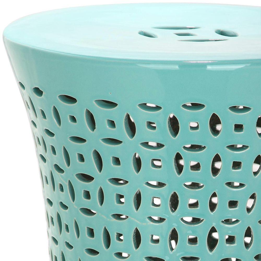 Super Safavieh Camilla Aqua Garden Patio Stool Andrewgaddart Wooden Chair Designs For Living Room Andrewgaddartcom