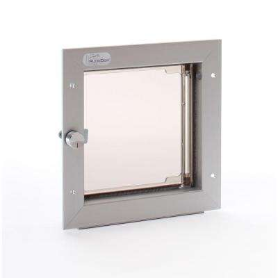 6.5 in. x 7.25 in. Small Silver Wall Mount Cat or Small Dog Door Requires No Replacement Flap