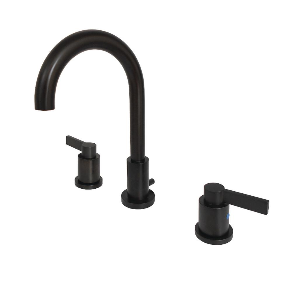 Kingston Br Nuvo 8 In Widespread 2 Handle High Arc Bathroom Faucet