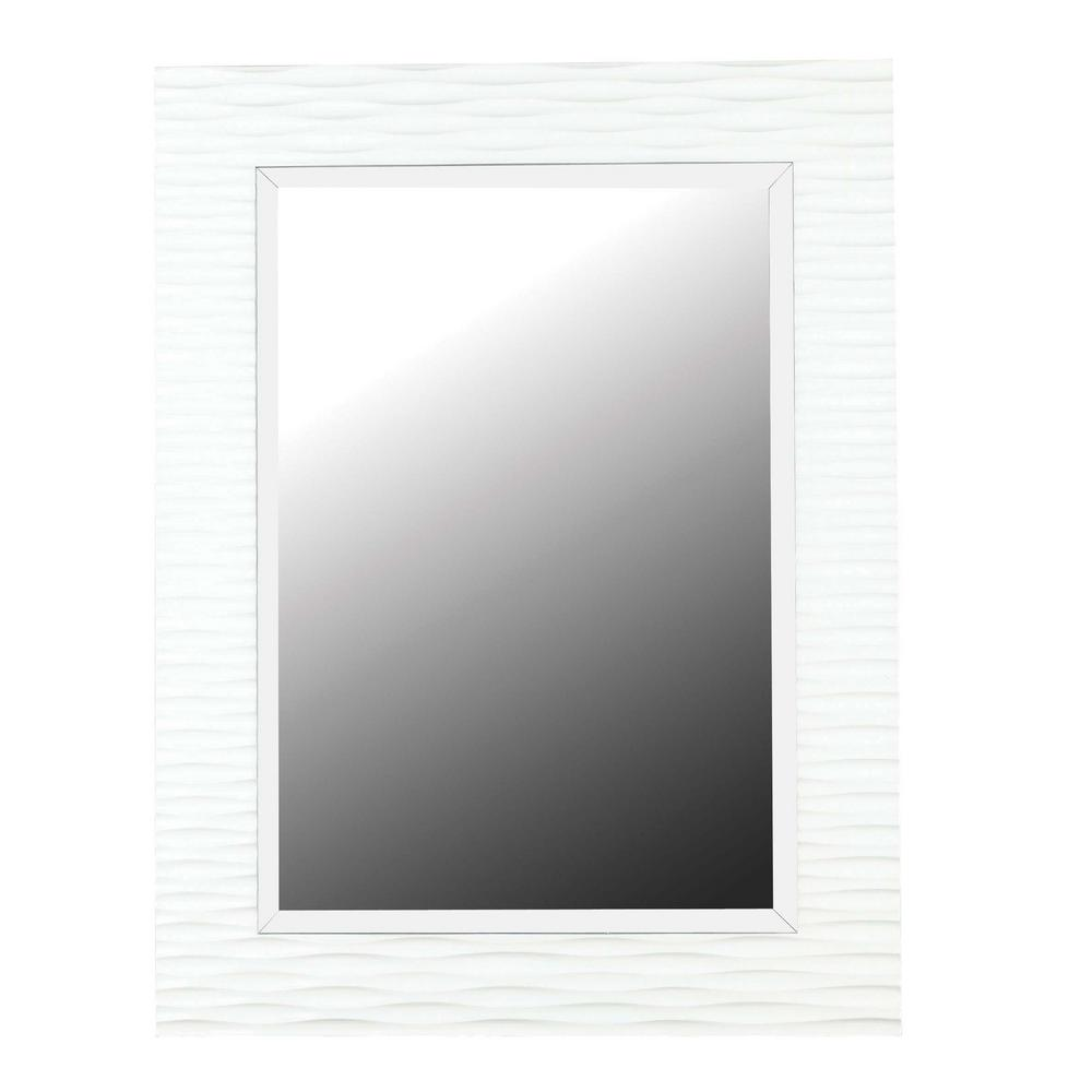 Home Decorators Collection Kendrick 39 in. x 30 in. Polyurethane Framed Mirror