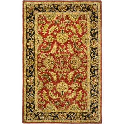 Heritage Red/Black 5 ft. x 8 ft. Area Rug