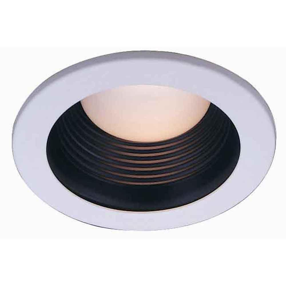 Commercial Electric 4 In Black Recessed Baffle Trim