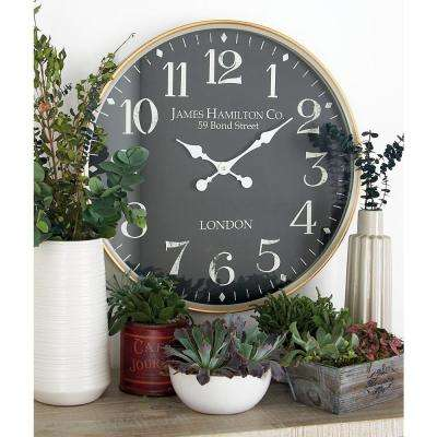 Multi-Colored London-Inspired Analog Wall Clock with White Accents