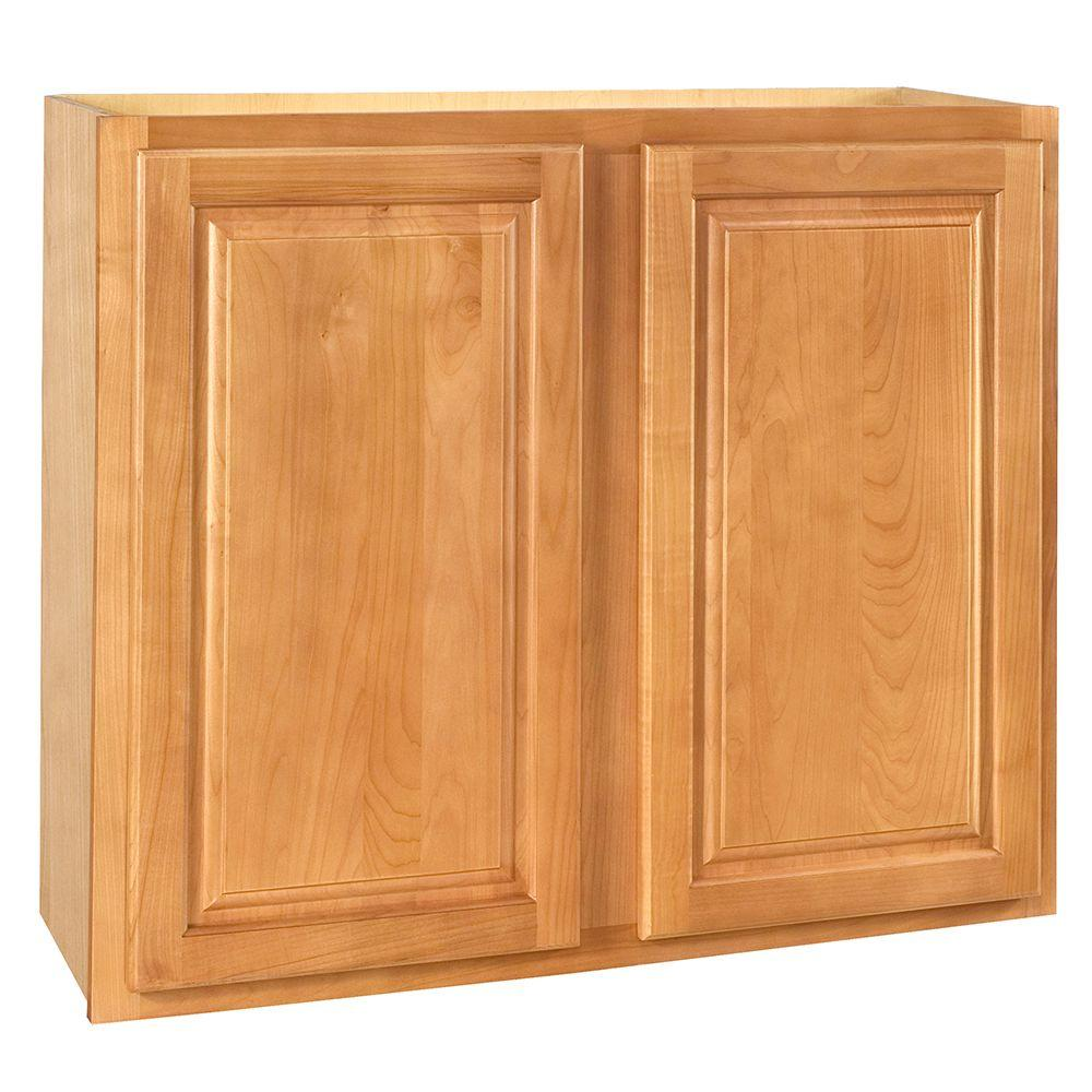 Home Decorators Collection Assembled 30x30x12 in. Wall Double Door Cabinet in Woodford Cinnamon