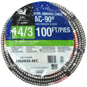 Afc Cable Systems 14 3 X 100 Ft Bx Ac 90 Solid Cable
