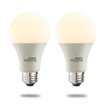 Solana 60-Watt Equivalent A19 Dimmable Smart Wi-Fi Connected LED Light Bulb White (2-Pack)